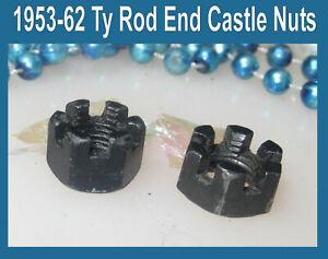 Corvette-1954-1956-1957-1958-1959-1961-Suspension-Ty-Rod-End-Castle-Nuts-1955
