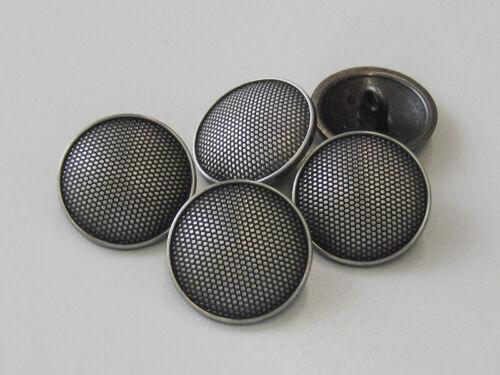 6 boutons métal 5753ei fer couleurs avec superbe structure motif