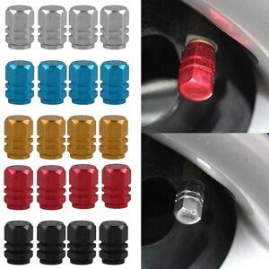 4x-Coche-Camion-Moto-Bici-Rueda-Tapones-Tapa-Valvula-Neumatico-Tire-Valve-Cover