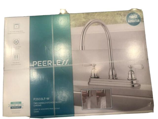 Peerless P2933lf W Two Handle Kitchen Faucet Chrome W Twist Aerator Ebay