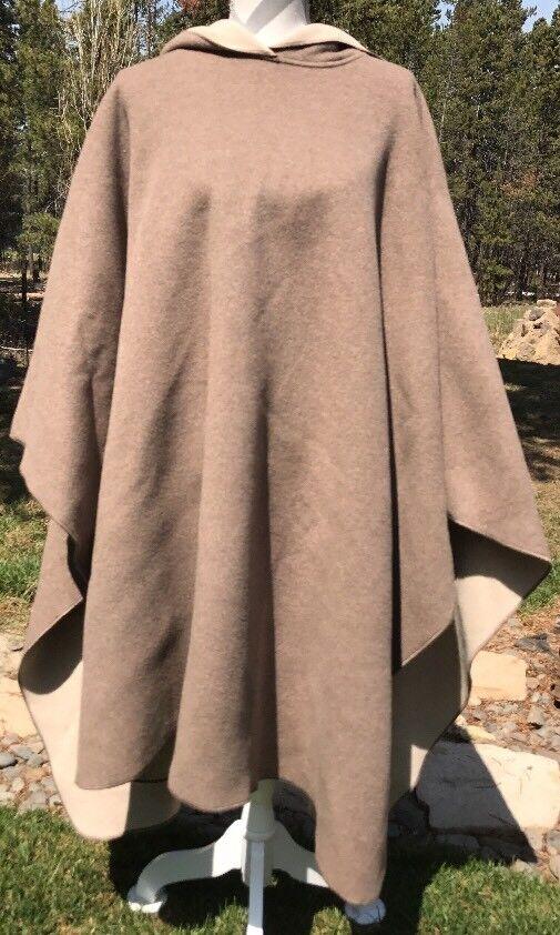 Nuevo con etiquetas Lands de lana  para mujer marrón's End Nylon Mezcla Tire sobre Poncho con capucha de  198  comprar mejor