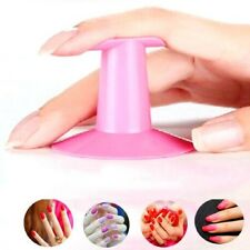 Plastic Salon Tips Painting Nail Art Finger Stand Support Rest Holder Pink