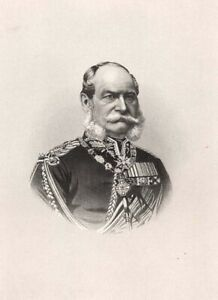Germany-PRUSSIA-KING-WILLIAM-I-EMPEROR-WILHELM-Hohenzollern-1882-Print-Engraving