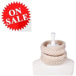 Neck-Warmer-For-Women-Beige-Infinity-Circle-Loop-Scarves-Knit-Winter-Warm-Scarf