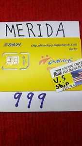 Telcel MEXICO  MERIDA YUCATAN  Prepaid SIM Card for UNLIMITED CALLS,SMS