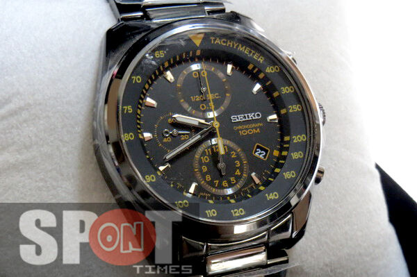 Seiko Tachymeter Chronograph 100m Men s Watch Sndd65p1 for sale ... c3b2158be3e4