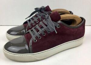 LANVIN 'DBB1' Burgundy Suede Leather