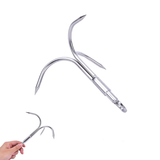 3-Claw Stainless Steel Outdoor Grappling Hook Climbing Claw 15x13.5x7cm ATAU