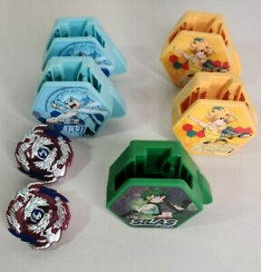 Beyblade-Burst-Happy-Meal-Toys-Set-Of-5-Replacement-pieces-only-2-complete