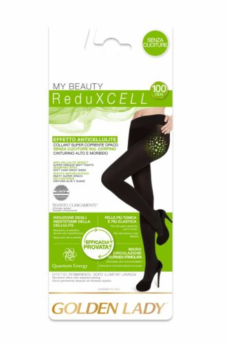 COLLANT GOLDEN LADY REDUXCELL ANTICELLULITE 100 DEN SUPERCOPRENTE SENZA CUCITURE