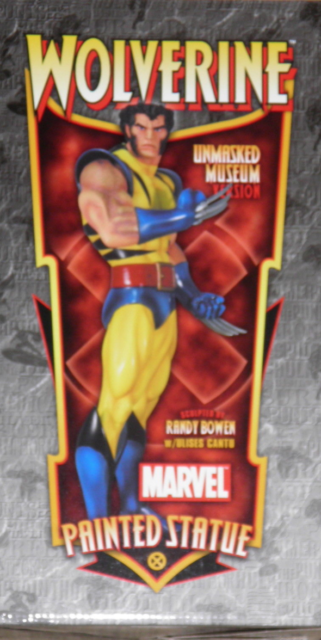 WOLVERINE MUSEUM UNMASKED STATUE BY BOWEN DESIGNS (FACTORY SEALED,MIB)