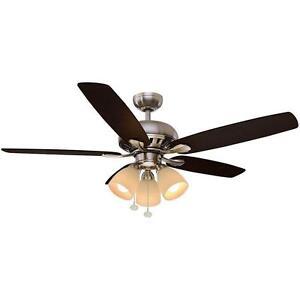 Hampton Bay 1001673208 Rockport Large Room Ceiling Fan A0162 A14