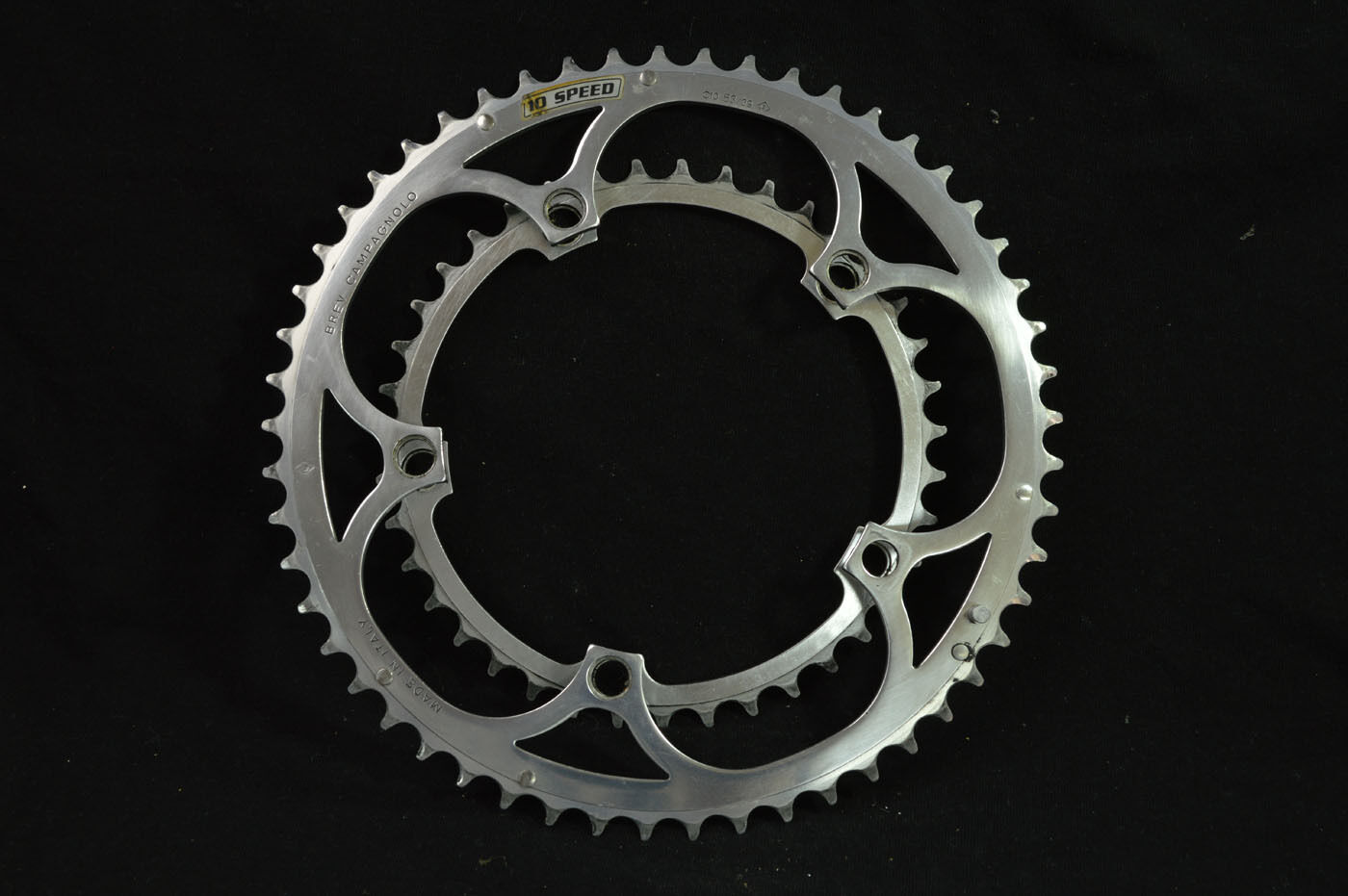 2x Chainring Campagnolo record c-10 10 speed alloy 53t 39t  bcd 135