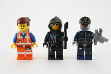 LEGO Movie 70801 Emmet, Wyldstyle, and Robo Swat Minifig Minifigure - Lot of 3