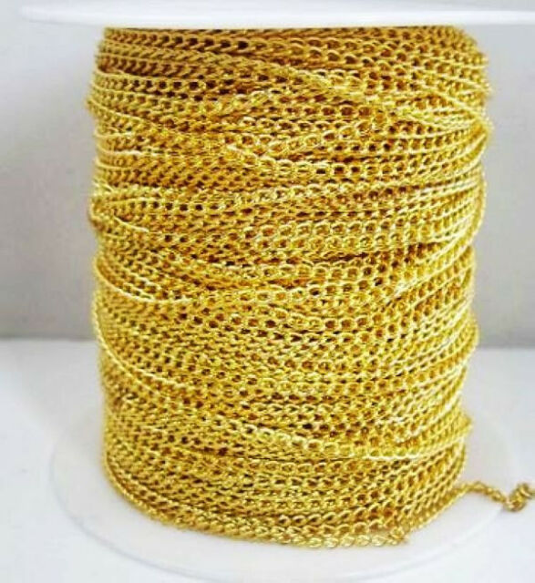 11Colors Open Link Iron Cable Findings Metal Antique Chain 0.7x3x2mm ForNecklace
