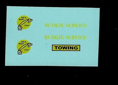 Blue Container BUDGIE No 252 BR CONTAINER TRANSPORTER TRANSFERS//DECALS