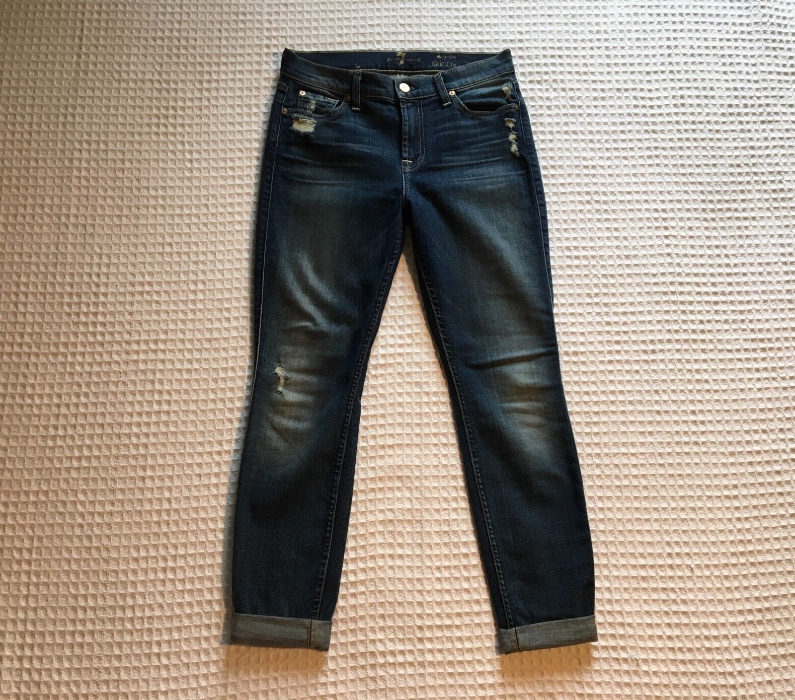 7 SEVEN for ALL MANKIND  225 The Ankle Distressed Skinny 28