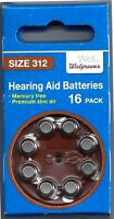 Hearing Aid Batteries / Size 312 - 16-pack - Walgreens