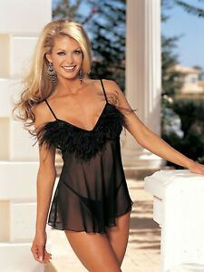 Shirley-of-Hollywood-Women-Lingerie-Sheer-Black-Chemise-and-G-String-Plus-22