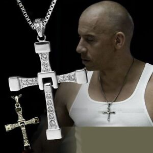 San Francisco 3d4bd 47803 Dettagli su COLLANA FAST AND FURIOUS DOMINIC TORETTO VIN DIESEL CIONDOLO  CROCE LETTY