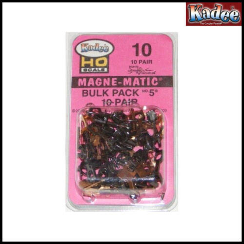 Kadee No 10 Bulk Pack No 5 Coupler, Medium Length, Centerset 10 Pairs No Boxes