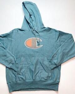 Men-s-100-Authentic-Champion-Hoodie-Size-Large-Color-Blue