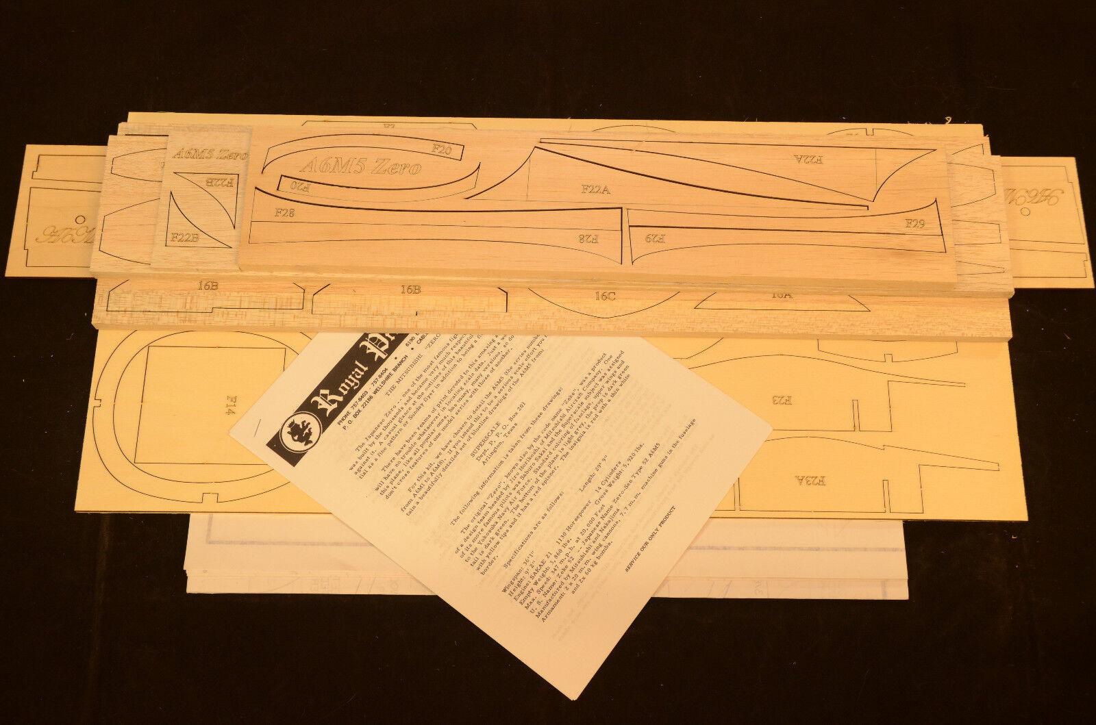 1 8 Escala Real Mitsubishi A6m5 Zero Corte Láser Kit, Planes & Instr. 62.5  Ws