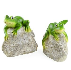 Beau Image Is Loading Garden Pond Frog Ornaments Animal Pair 039 Leafy