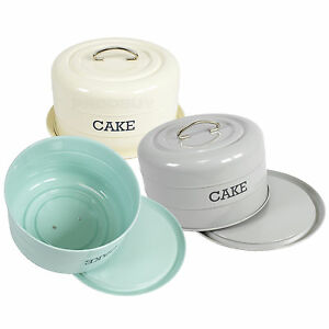 Living Nostalgia French Grey Domed Cake Tin Articles Pour Le Four