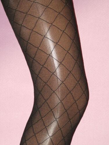 opaque Ladies Diamond M//L Black Square Tights 40 denier semi