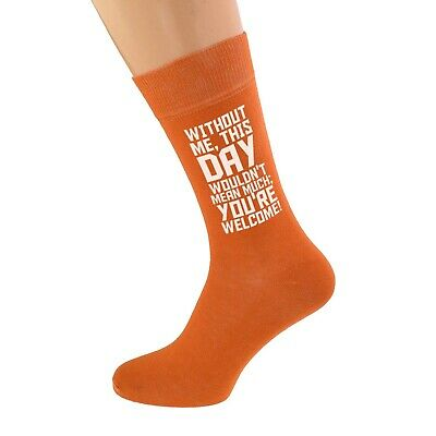 100% QualitäT Without Me This Day.. Design Burnt Orange Mens Socks X6n986-x6s240