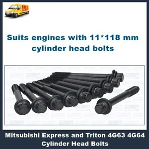 Details about Mitsubishi Express 4G63 4G64 SOHC Cylinder Head Bolts