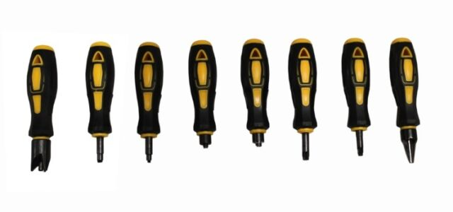 NEW Max-Comp 8 Piece Case Prep Tool Set Deburring Primer Pocket Reamer Uniformer