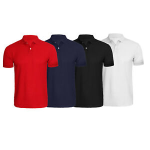 Details about Mens Polo Shirt Wholesale Plain Polo M to XL Discounted Polo Shirts in 4 Colors