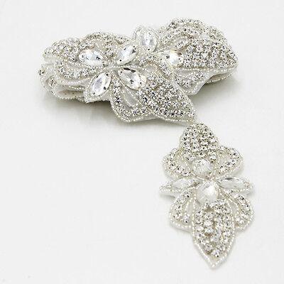 Mariage robe de mariée cristal strass Trim Applique Ceinture écharpe Sewing Crafts