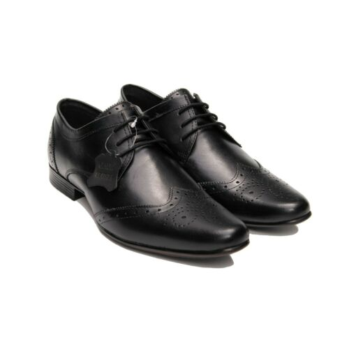 AU//UK Size Men/'s Perforated Leather Shoes Formal Lace Up Wing Tip Toe Shoes