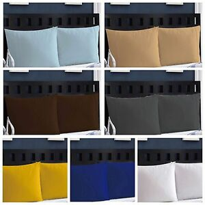 50-Cotton-400-TC-Pillow-Case-Set-Standard-And-King-Size-Set-of-2-Pillow-Cases