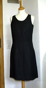 Street One Neu Gr 36 Top 55 Leinen Sommer Kleid Etui Kleid Schwarz Ebay