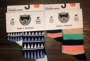 2-Twinsies-Sock-Set-NEW-Pair-of-Thieves-Dad-amp-Kid-Men-Sz-8-12-amp-Kid-S-18m-3-yr