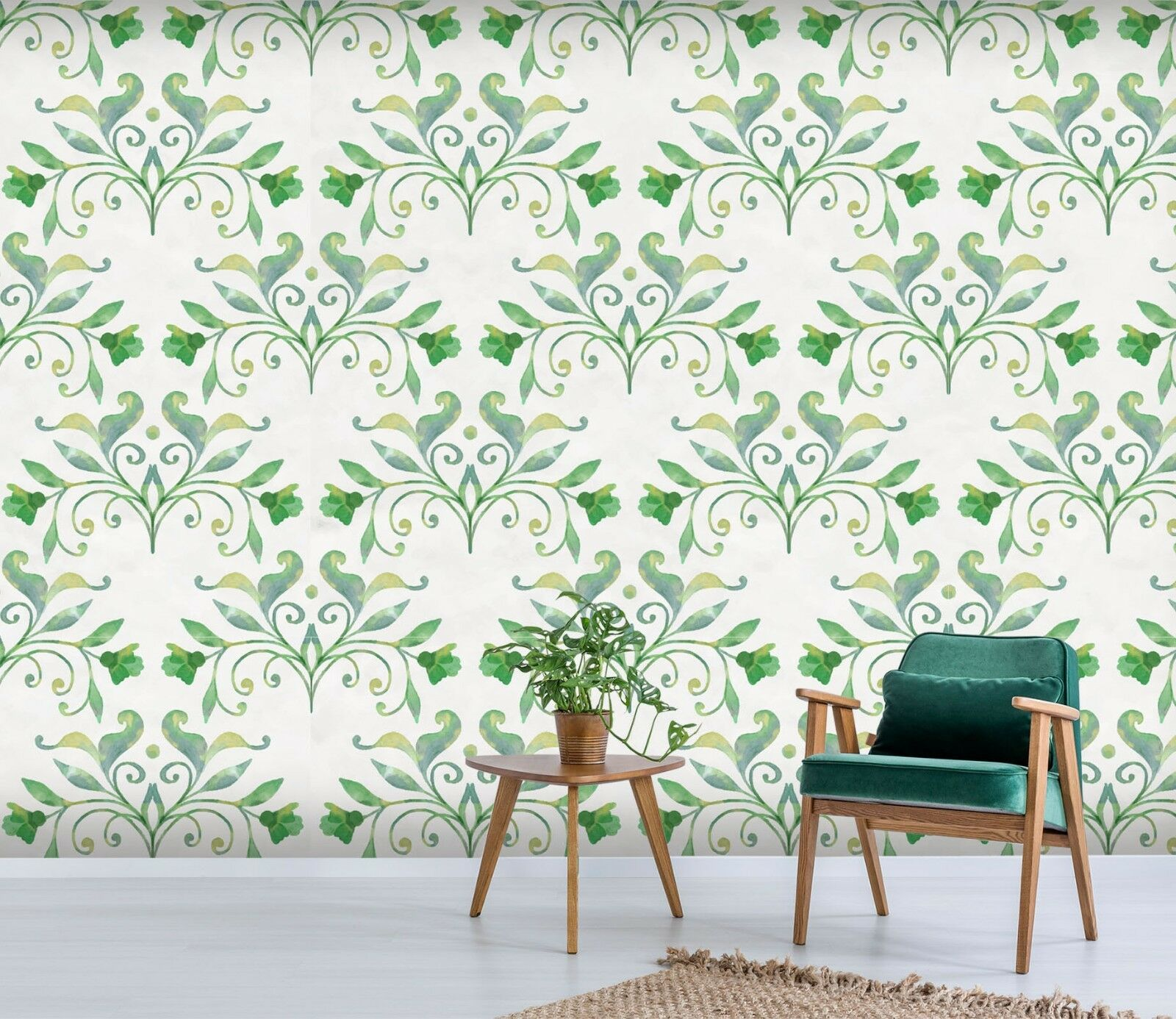 3D Grün Vine 12 Wallpaper Mural Print Wall Indoor Wallpaper Murals UK Summer