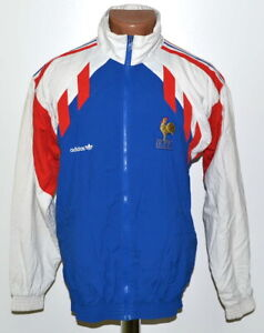 Details about FRANCE NATIONAL TEAM 19901992 TRAINING FOOTBALL JACKET JERSEY ADIDAS SIZE XS