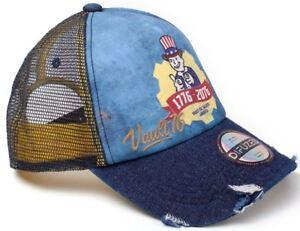 252cbabdea7c11 Fallout Vault 76 - Vintage Style 1776 -2076 - Trucker Cap - Blue | eBay