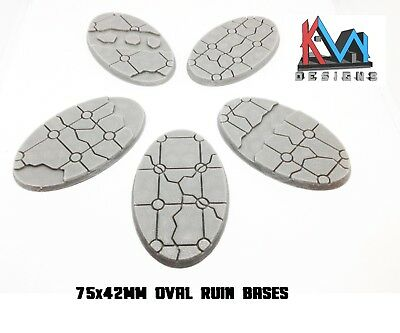 Biker // Cavalry Scenic Lava // Ice // Earth Bases 5 3D Printed Set of