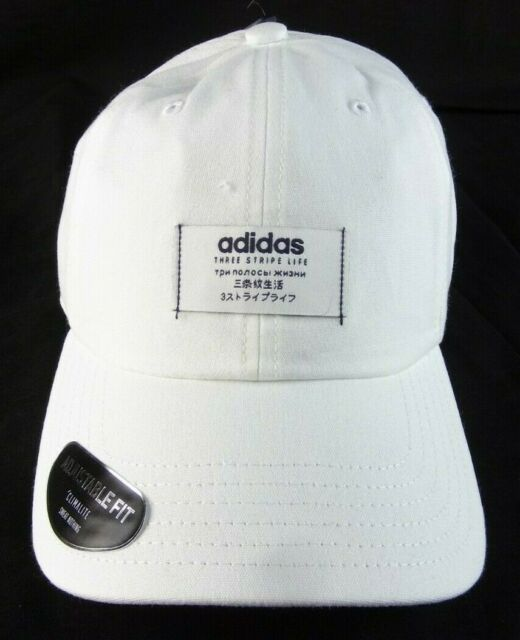633344956 Men's Adidas Impulse White/black Strapback Cap OSFA
