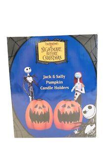 NECA Nightmare Before Christmas JACK & SALLY Pumpkin Candle Holders NIB RARE