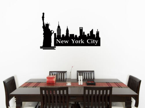 New York Skyline Cocina Comedor Living Dormitorio calcomanía de arte de pared calcomanía imagen 1