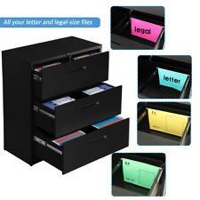 Steel Cabinet Storage Withlock 3 Drawers Home Office Filing Furniture Heavy Duty
