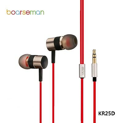 Boarseman KR25D Hifi In Ear Earphone 3.5MM Flat Head Earbuds Dynamic Headset New