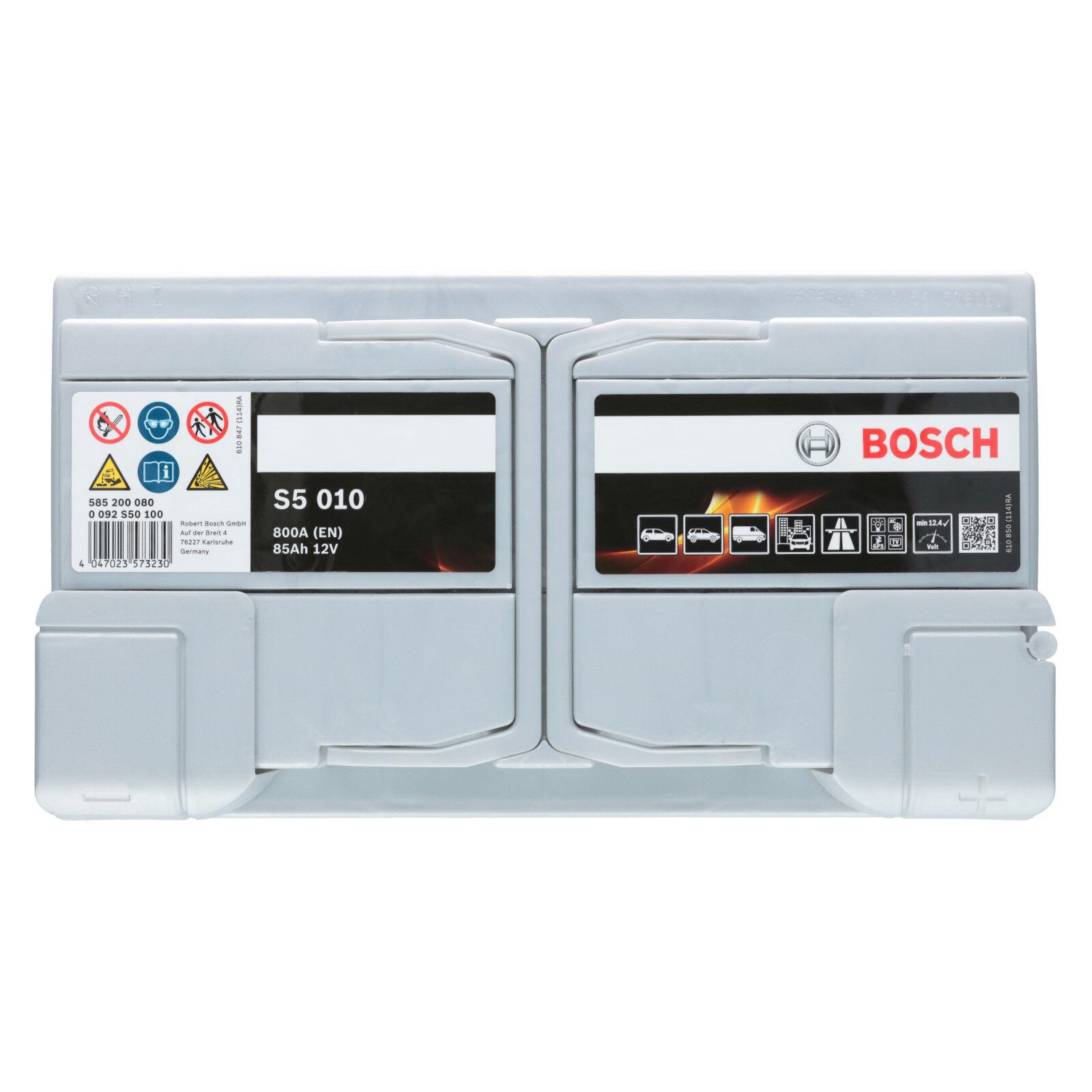 Bosch S5 010 12V 85Ah 800 A EN Autobatterie Starterbatterie ersetzt 80Ah 90Ah