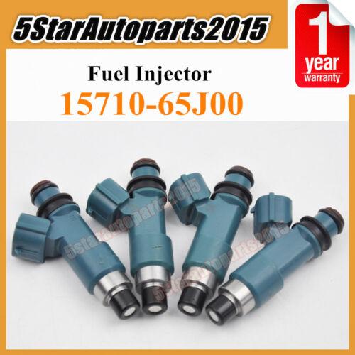 Set 4 Fuel Injector 15710-65J00 for 2007-2010 Suzuki SX4 2.0L L4 4G2199 FJ1053